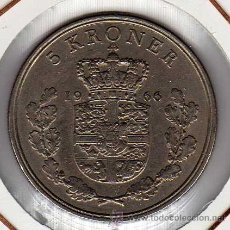 Monedas antiguas de Europa: DINAMARCA : 5 KRONER 1966 ( FREDERIK IX ) MBC+. Lote 42443012