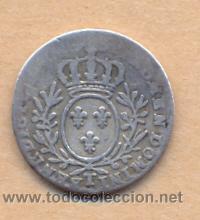 BRO 16 - FRANCIA - 12 SOLS - 1775 - 1790 DOMINI BENEDICTO CECA T ANVERSO GASTADO PLATA MEDIDAS (Numismática - Extranjeras - Europa)