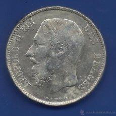 Monedas antiguas de Europa: BELGICA 5 FRANCOS PLATA 1868. Lote 42530139