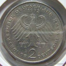 Monedas antiguas de Europa: MONEDA ALEMANIA FEDERAL. 2 MARCOS 1992-D. Lote 42571523