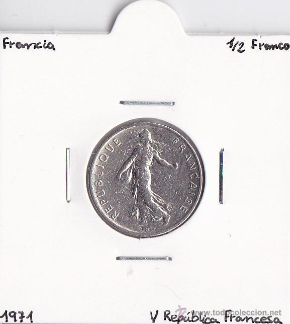 Moneda De Medio Franco francés-Collar de plata-Marianne 1986-33rd Cumpleaños