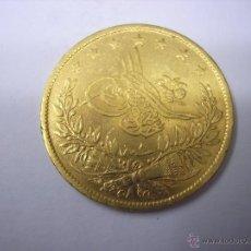 Monedas antiguas de Europa: TURQUIA OTOMANA. 100 KURUSH DE ORO DEL SULTAN ABDUL HAMID II. Lote 42662058