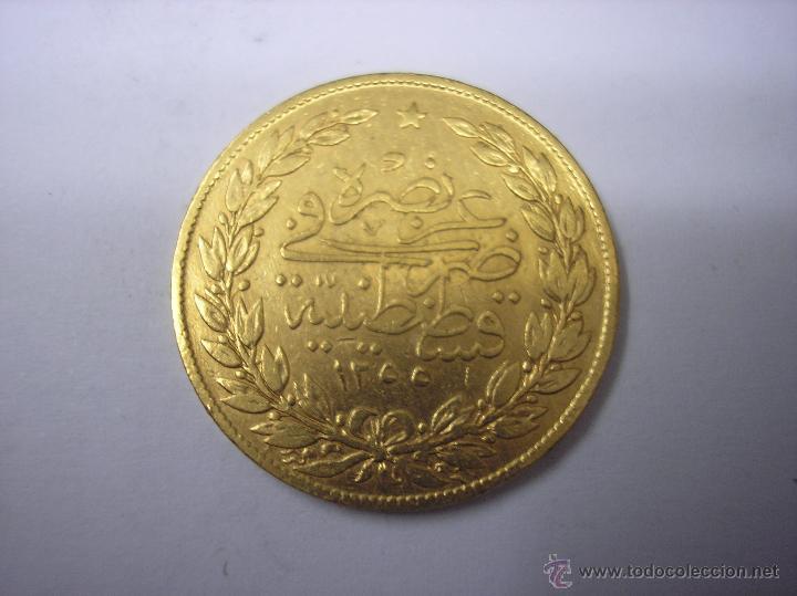 Monedas antiguas de Europa: TURQUIA OTOMANA. 100 KURUSH DE ORO DEL SULTAN ABDUL HAMID II - Foto 2 - 42662058