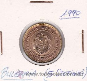BULGARIA 5 STOTINKI 1990 (Numismática - Extranjeras - Europa)