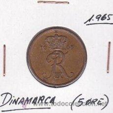 Monedas antiguas de Europa: DINAMARCA 5 ORE 1965. Lote 42706452