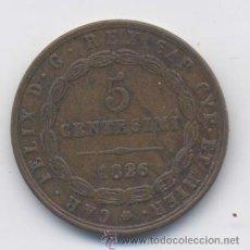 Monedas antiguas de Europa: ITALIA- SARDINIA- 5 CENTESIMOS- 1826. Lote 42750562