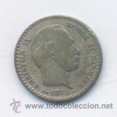Monedas antiguas de Europa: DINAMARCA- 10 ORE- 1875-PLATA. Lote 42767311