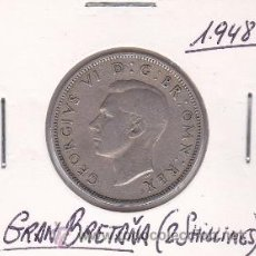 Monedas antiguas de Europa: GRAN BRETAÑA 2 SHILLINGS 1948. Lote 42833575