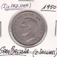 Monedas antiguas de Europa: GRAN BRETAÑA 2 SHILLINGS 1950. Lote 42833621