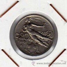 Monedas antiguas de Europa: ITALIA : 20 CENTESIMI 1922 R MBC+. Lote 42964669