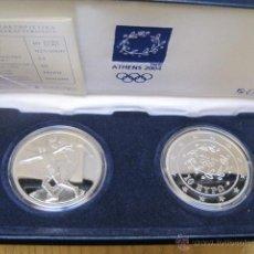 Monedas antiguas de Europa: 2 MONEDAS DE PLATA JUEGOS OLIMPICOS ATENAS 2004 CALIDAD PROOF. Lote 106060102