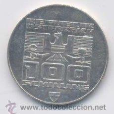 AUSTRIA- 100 SCHILLING- 1976-PLATA - SC