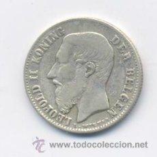 Monedas antiguas de Europa: BELGICA- 50 CENTIMES- 1899-PLATA. Lote 45550283