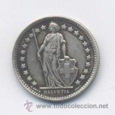 Monedas antiguas de Europa: SUIZA- 1/2 FRANCO- 1958- PLATA. Lote 43378668