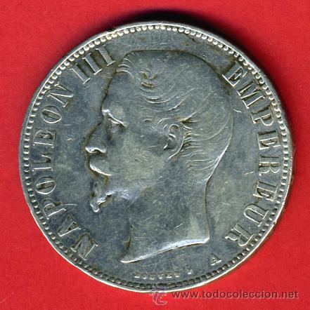 Moneda Francia 5 Francos 1855 Napoleon Iii Comprar Monedas
