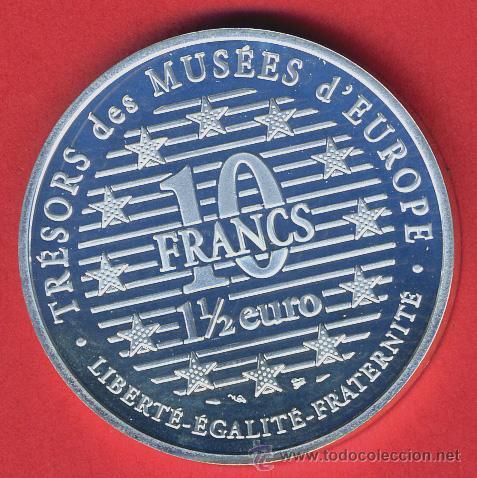 Monedas antiguas de Europa: MONEDA FRANCIA , 10 FRANCOS 1996 , 1 1/2 EURO , PLATA PROOF , ORIGINAL, 10 - Foto 2 - 43708144