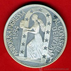 Monedas antiguas de Europa: MONEDA ANDORRA 10 DINERS , ECU 1995 , PLATA PROOF , ORIGINAL, 54. Lote 43709521