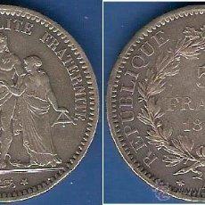 Monedas antiguas de Europa: MONEDA EN PLATA DE 5 FRANCOS DE FRANCIA-1873 EXCELENTE CONDICIÓN. Lote 44343281