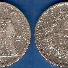 Monedas antiguas de Europa: MONEDA EN PLATA DE 5 FRANCOS DE FRANCIA-1848 MBC.. Lote 44343346