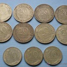 Monedas antiguas de Europa: LOTE DE 11 MONEDAS FRANCESAS DE 20 Y 10 CENTIMOS, AÑOS 70. Lote 44604461