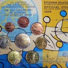 Monedas antiguas de Europa: GRECIA 2009 EURO SET ESPECIAL 10º ANIVERSARIO EURO BU ***NUMISBUR***. Lote 44840217