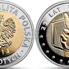 Monnaies anciennes de France: POLONIA 5 ZLOTYCH 2014 25 AÑOS DE LIBERTAD. Lote 225374620