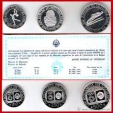 Monedas antiguas de Europa: ESTUCHE CON 3 PIEZAS PLATA PROOF DE XIV JUEGOS OLIMPICOS SARAJEVO'84-YUGOSLAVIA.CERTIFICADO. LUJO.. Lote 45249181
