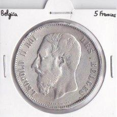 Monedas antiguas de Europa: BÉLGICA 5 FRANCOS 1870 LEOPOLDO II. Lote 45299964