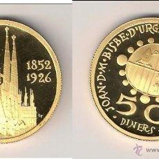 Monedas antiguas de Europa: MONEDA DE ANDORRA DE 50 DINERS DE 1990. CONMEMORATIVA A ANTONI GAUDÍ. ORO. PROOF. (0210).. Lote 45418882