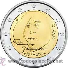 MONEDA CONMEMORATIVA DE 2 € FINLANDIA 2014. TOVE JANSSON. (Numismática - Extranjeras - Europa)