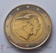MONEDA CONMEMORATIVA DE 2 € HOLANDA 2014. DOBLE RETRATO. (Numismática - Extranjeras - Europa)