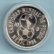 Monedas antiguas de Europa: MONEDA ORIGINAL DE ANDORRA PESO 8 GR. CONMEMORATIVA DEL CAMPEONATO MUNDIAL DE FÚTBOL 1986 10 DINARIO. Lote 45513125