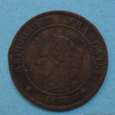 Monedas antiguas de Europa: FRANCIA 2 CENTIMOS 1878.. Lote 45631314
