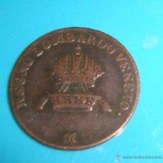 Monedas antiguas de Europa: MONEDA DEL REGNO LOMBARDO Y VENETO DE 1 CENTESIMO AÑO 1822. Lote 45649386