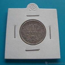 Monedas antiguas de Europa: MONEDA DE PLATA DE ALEMANIA 1 MARCO DE PLATA DE GUILLERMO II 1903. Lote 45674003