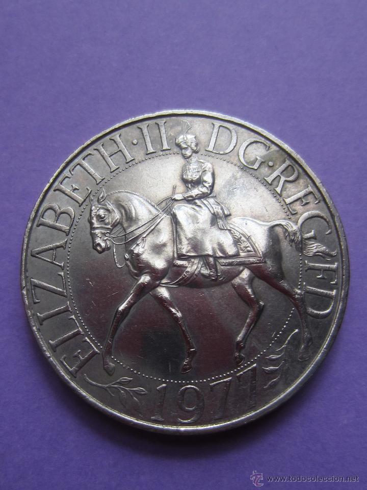 Medalla Elizabeth Ii Dg Reg Fd 1977 Comprar Monedas Antiguas De