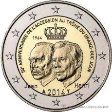 Monedas antiguas de Europa: LUXEMBURGO 2 EURO 2014 ASCENSIÓN AL TRONO DEL DUQUE JEAN. 2ª PIEZA DEL AÑO 2014 *NUMISBUR*. Lote 194279495