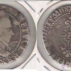 Monedas antiguas de Europa: MONEDA DE FRANCIA DE 1 FRANCO DE 1587. REINADO DE ENRIQUE III. PLATA. MBC- (ME7).. Lote 46167669