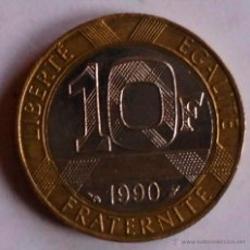 Monedas antiguas de Europa: 10 FRANCOS FRANCIA 1990. Lote 46462596