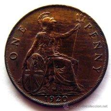 Monedas antiguas de Europa: MONEDAS DEL MUNDO . INGLATERRA . ONE PENNY . GEORGIUS V . 1920. Lote 46785632