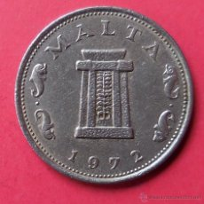 Monedas antiguas de Europa: MALTA. MONEDA DE 5 CENTIMOS. 1972.. Lote 46934052