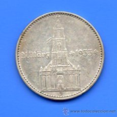 Monedas antiguas de Europa: ALEMANIA 2 MARCOS PLATA (2 REICHSMARK) 1934 J - 1º ANIV. GOBIERNO NAZI (CECA ESCASA). Lote 55036605