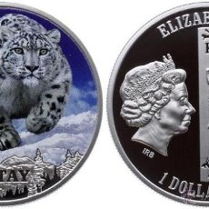 Monedas antiguas de Europa: ISLAS NIUE 1 DOLAR LEOPARDO DE LAS NIEVES- PANTHERA UNCIA. Lote 195065150