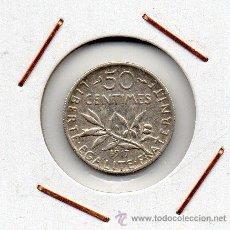 Monedas antiguas de Europa: FRANCIA : 50 CENTIMES 1917 MBC+ ( PLATA ) . Lote 47292581