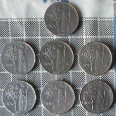 Monedas antiguas de Europa: LOTE DE DIEZ MONEDAS DE 100 LIRAS ITALIANAS. TODAS CON AÑOS DIFERENTES. Lote 47500181