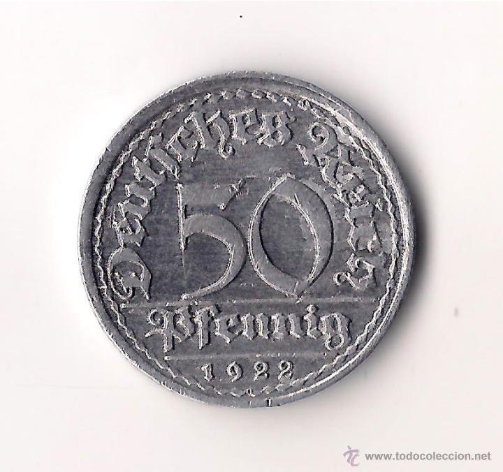 Alimania 50 Pfennig 1922 F Comprar Monedas Antiguas De Europa En
