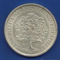 Monedas antiguas de Europa: ALEMANIA 5 MARCOS PLATA 1927-A ( 5 REICHSMARK) ROBLE ESCASA. Lote 47595283