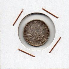 Monedas antiguas de Europa: FRANCIA : 50 CENTIMES 1917 MBC+ ( PLATA ) . Lote 47710131