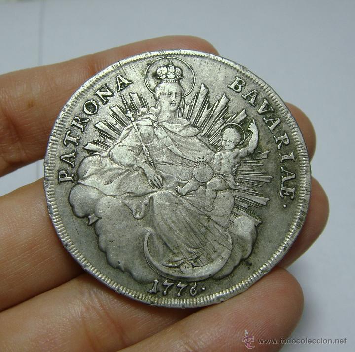 THALER. PLATA. MAXIMILANO III. ALEMANIA - BAVARIA - 1776 (Numismática - Extranjeras - Europa)