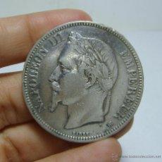 Monedas antiguas de Europa: 5 FRANCOS (FRANCS). PLATA. NAPOLEÓN III. FRANCIA - 1869 - ESTRASBURGO. Lote 47847768